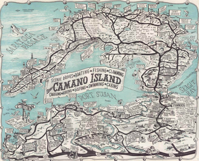Camano Island Tourist Map from 1958