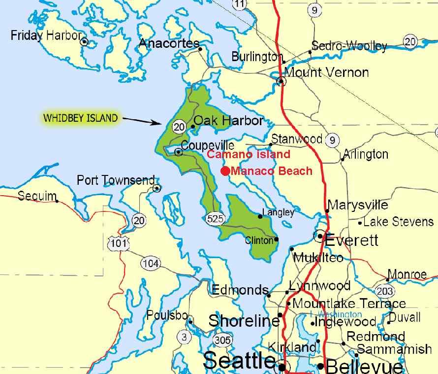 Puget Sound San Juan Islands Map